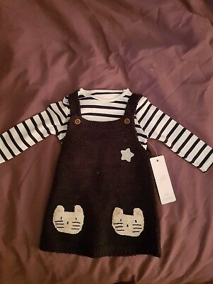 F&F Baby Girls Dress/outfit 6-9 Months