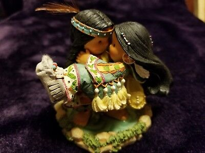 """Retired  Enesco """"our Love Will Carry Us On Our Journey"""" Friends Of The Feather"""
