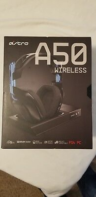 Astro A50 Wireless Gaming Headset + Base Station PC/PS4 - Black/Blue, BRAND NEW