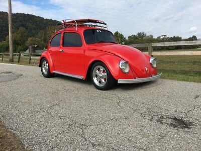 1966 Beetle-New - ROOF RACK WITH SURFBOARD- SEE VIDEO Volkswagen Beetle Red with 0 Miles, for sale!