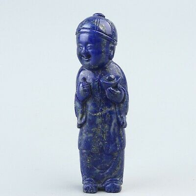 Chinese Exquisite Hand-carved lapis lazuli the ancients statue