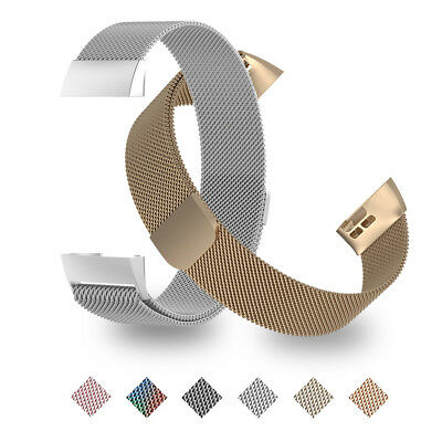 For Fitbit Charge 3 Wristband Stainless Metal Milanese Magnetic Loop Band Strap
