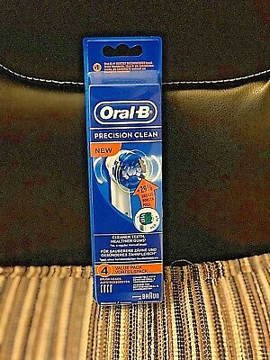 4 Braun Oral B Precision Clean Toothbrush Replacement Brush Heads Refill Eb20-4