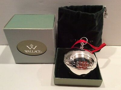 WALLACE SILVERSMITHS 2010 40th Annual Silver Sleigh Bell Silver-plate Ornament