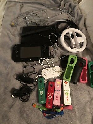 Nintendo Wii U Black Premium Pack 32GB Lots Of Extras - Bundle, Games GUC