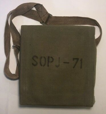 Czech SOPJ-71 Gas Mask Repair Kit, Canvas Covered Metal Box - VTG 1970's NOS