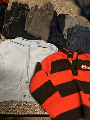 Boys Size 9 Months Huge Lot Of 35 Fall Winter~VGC~Carter's,OshKosh~Clothes&Shoes