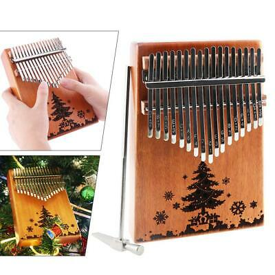 17 Key Kalimba Single Mahogany Thumb Piano Mbira Mini Keyboard Instrument