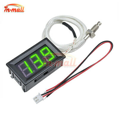DC 12V XH-B310 Green Digital LED Diaplay Thermometer K-type M6 Thermocouple
