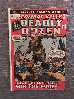 Combat Kelly Deadly Dozen (1972 series) #1 June - Marvel Comics - Great Quality!