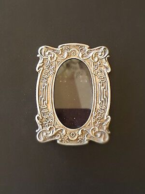 Antique Art Nouveau Silver Picture Frame, Small & Intricately Detailed!