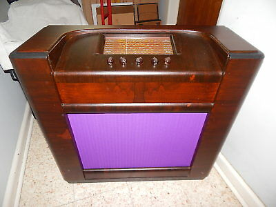 Vintage Hotpoint Radio Floorstanding Recently Restored Cabinet Working