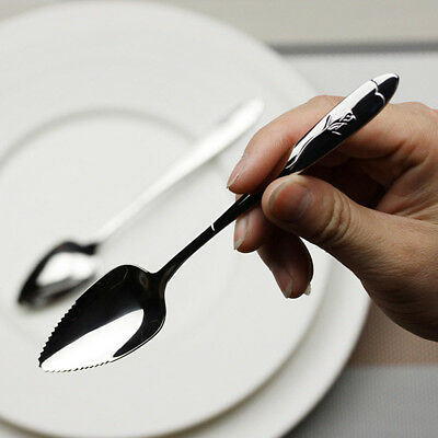 Mirror Polishing Fruit Grapefruit Seratted Spoon Stainless Steel Saw-tooth