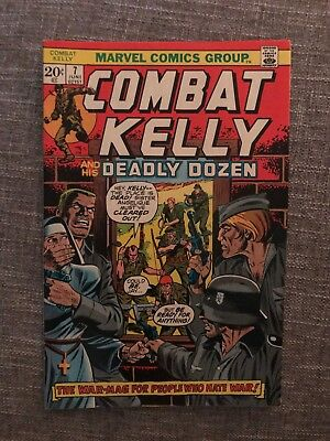 Marvel Combat Kelly and the Deadly Dozen #7 (June, 1973) Bronze Age Comic 02151