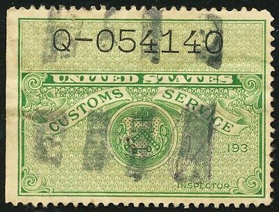 Dr Jim Stamps Us Customs Service Stamp Used No Reserve Free Shipping