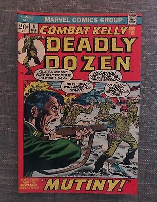 Combat Kelly Deadly Dozen #4 (Dec 1972, Marvel) Mutiny! Great Quality Comic!