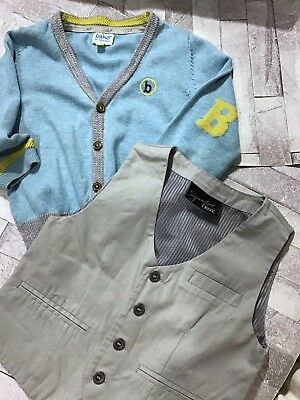 Ted Baker Cardigan & Next Waistcoat Boys Age 6-9 Months G.Con
