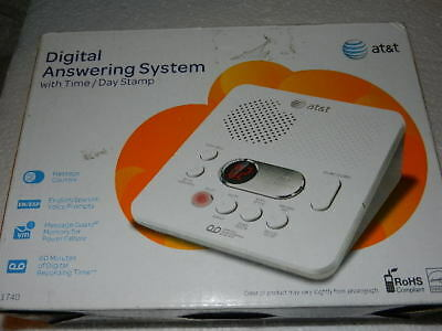 Pls read New AT&T Digital Answering System 1740 answer machine at & t no phone