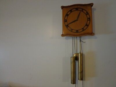 Scherraus Two Weight  Hanging Wall Clock Franz Hermle Movement