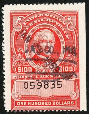 Dr Jim Stamps Us Scott R682 $100 Documentary Used No Reserve Free Shipping