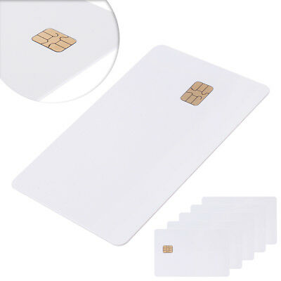 5 Pcs ISO PVC IC SLE4442 Chip Blank Smart Card Contact IC Card Safety White
