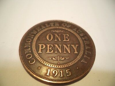 1915  KGV  PENNY Very  Good Condition RARE VERY OLD COLLECTION GREAT INVESTMENT