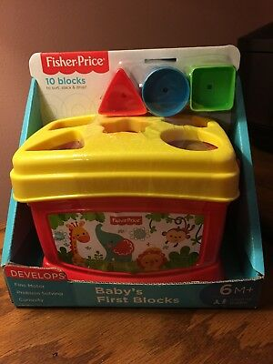 Fisher Price Baby's First Blocks Toy For Baby Toys 6 Months + PLAY NEW