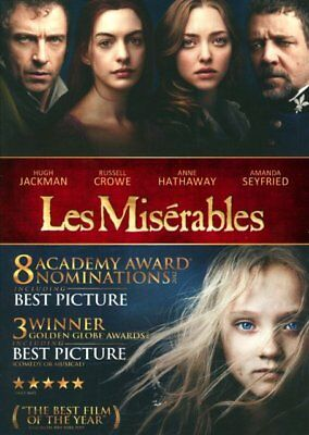 LES MISERABLES 2012 BLU RAY, with slipcover no digital code
