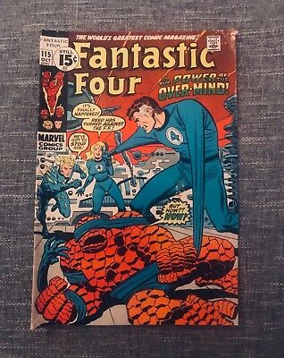 Fantastic Four #115 (Oct 1971, Marvel) In The Power Of The Over Mind! 02462