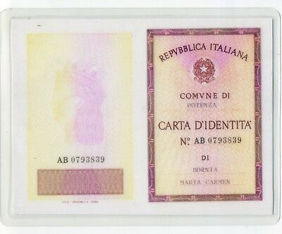 1977 Italy Identification Card, Document