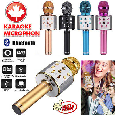 CA Wireless Microphone Speaker Bluetooth 4.0 KTV Karaoke iPhone Samsung Android