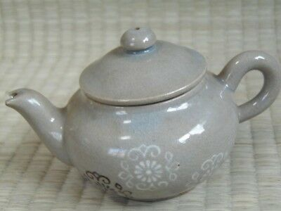 Pottery kettle / Teapot / With Lid / Tea ceremony / KYUSU / Japanese Vtg / 62h