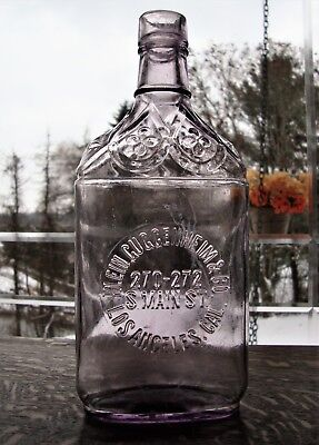 KLEIN, GUGGENHEIM & Co ~ LOS ANGELES, CALIFORNIA ~ WESTERN WHISKEY SALOON FLASK