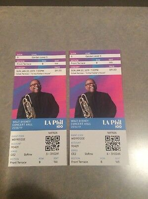2 Tickets Itzhak Perlman 1/20/19 Walt Disney Concert Hall Los Angeles, CA