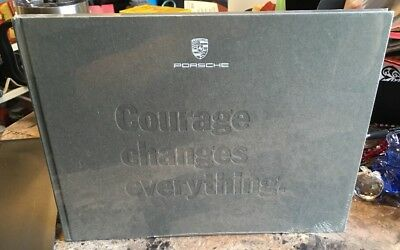 """NEW Porsche Panamera  Hardcover Book """"Courage Changes Everything"""" IN WRAPPER"""