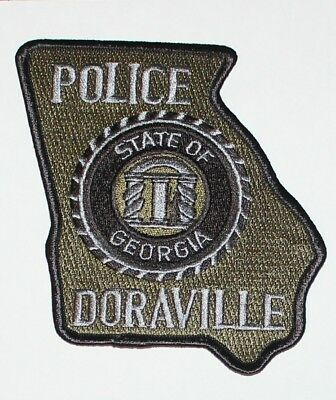 DORAVILLE POLICE Subdued Georgia State Shaped Tactical SWAT GA PD patch
