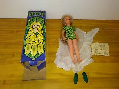 """1971 Ideal Growing Hair KERRY Friend of Chrissy DOLL New in Box 18"""""""