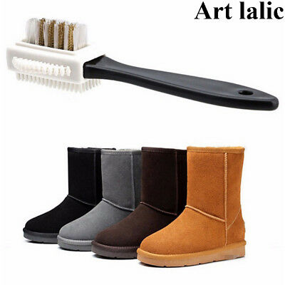 3 Side Cleaning Brush S Shape Shoe Cleaner For Suede Snow Boot Shoes