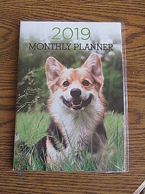 2019 Large Dog Monthly PLANNER Calendar Directory Planning Guide Dates Organizer