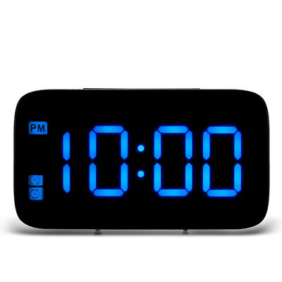 Alarm Clock Large Digital Number LED Display Portable Modern Battery USB SNOOZE