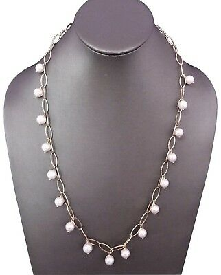 Certified $3,895 Estate Akoya Large 8.50-8.25 Mm 14Kt 24 1/2 Inch Pearl Necklace