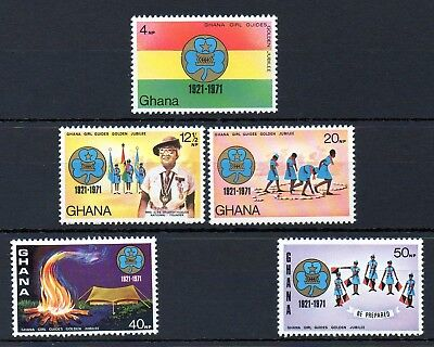 Ghana 1971 Golden Jubilee of Girl Guides MNH set S.G. 606-610