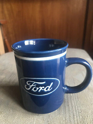 Ford Logo Blue Ceramic Coffee Mug, Gift Box, Official Merchandise, Brand New