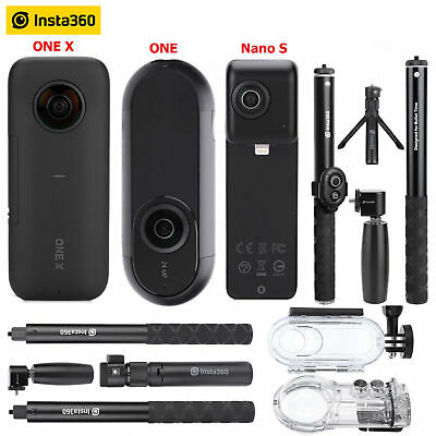 Insta360 ONE/ONE X/Nano S Panoramic Camcorder+Selfie Stick+Ball Time Bundle S1