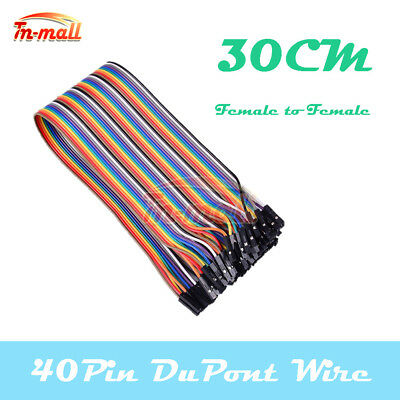 40PIN Dupont Female to Female 30cm Wire Jumper Cables for Arduino