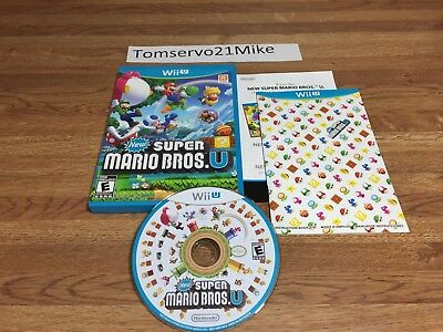 New Super Mario Bros. U (Nintendo Wii U) Complete - Excellent - FREE SHIPPING