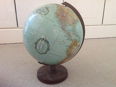 Vintage Replogle World Designer Series 12 Inch Globe. Approx. 50 Years Old.