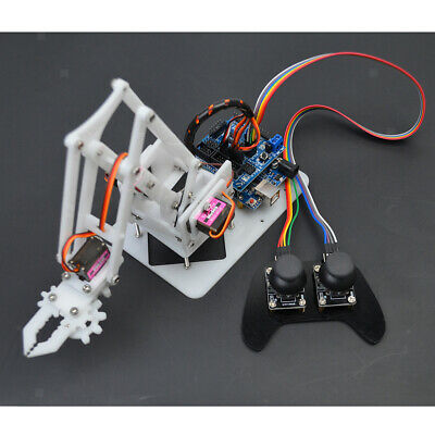 Prettyia PS2 RC DIY 4-Dof Robot Arm 4 Servos Kits for Arduino Science Toy