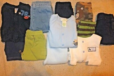 Boys Size 0-6 months Mixed Winter Clothing lot; 11 pieces Brand Names
