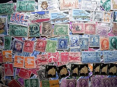 USA Bulk Lot, Over 500 Nearly 600 Used Stamps As Photographed
